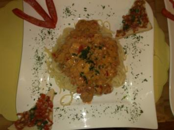 Rezept: Garnelen mit Spaghetti scharf!