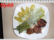 Fleischgerichte:Schweinemedaillons mit Grünem Spargel - Rezept