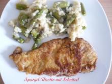 Spargel - Risotto mit Schnitzel - Rezept