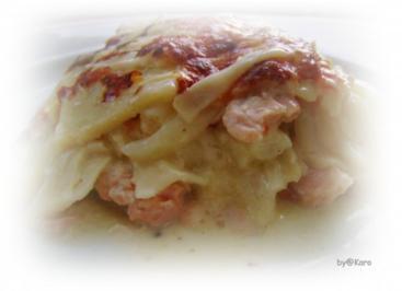 Spargel: Weisse Spargel Lasagne mit Lachs - Rezept