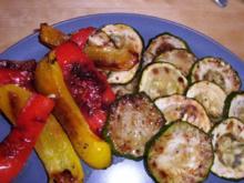 Antipasti- Zucchini und Paprika - Rezept