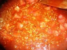 Linsen-Buchweizen- Tomatensauce vegetarisch - Rezept