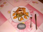 Pikanter Spargelsalat mit gebackenem Kabeljau - Rezept