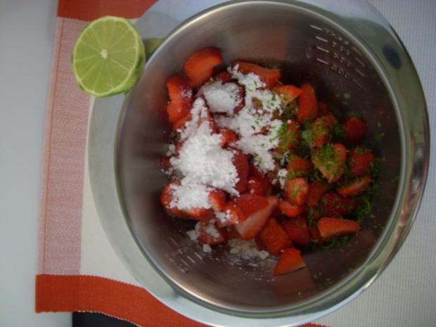 ~ Dessert ~ Gratinierte Erdbeeren mit Bourbon-Vanille-Eis - Rezept - Bild Nr. 3