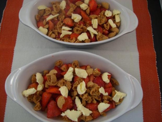 ~ Dessert ~ Gratinierte Erdbeeren mit Bourbon-Vanille-Eis - Rezept - Bild Nr. 4
