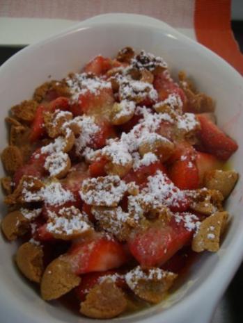 ~ Dessert ~ Gratinierte Erdbeeren mit Bourbon-Vanille-Eis - Rezept - Bild Nr. 5