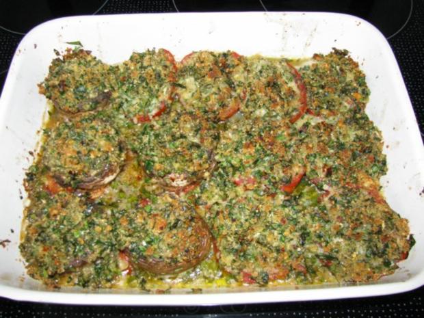 Vorspeise: Knusprig überbackene Tomaten oder Riesenchampignons - Rezept - Bild Nr. 2