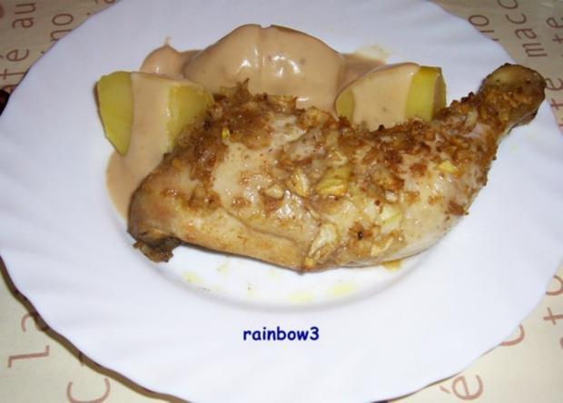 Kochen: Zwiebel-Hähnchenschenkel - Rezept