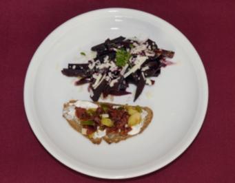 Carpaccio/Salat von jungen Roten Rüben und -Blättern (Ole Tillmann) - Rezept