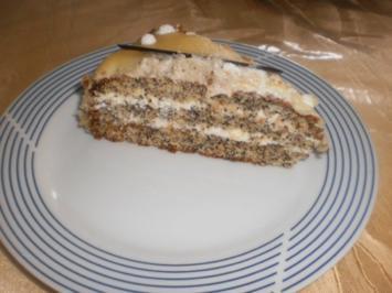 Mohn-Torte im Marzipanmantel - Rezept