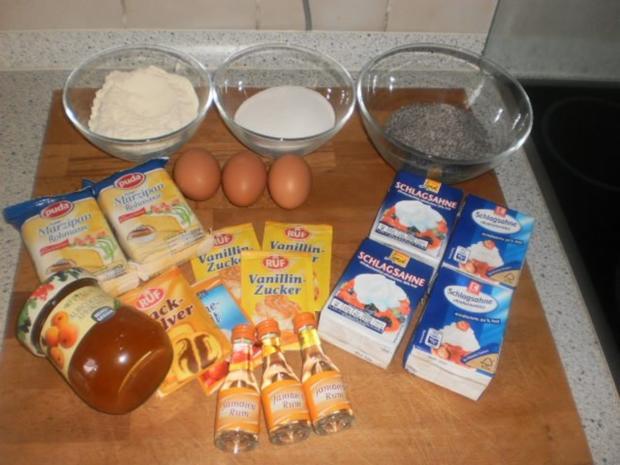 Mohn-Torte im Marzipanmantel - Rezept - Bild Nr. 2