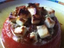 Gefüllte Tomaten mit Hackfleisch und Fetakäse - Rezept
