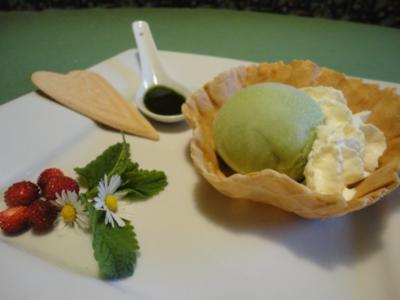 Zitronenmelissen-Eis - ohne Eismaschine - Rezept