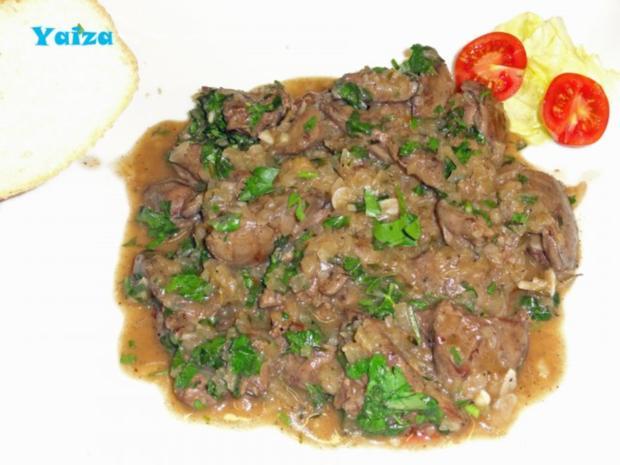 Higado de pollo en salsa de Jerez - Rezept