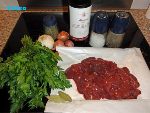 Higado de pollo en salsa de Jerez - Rezept - Bild Nr. 2