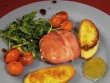 Keitumer Ziegenfrischkäse gebraten in einem Mantel aus Galloway-Schinken - Rezept
