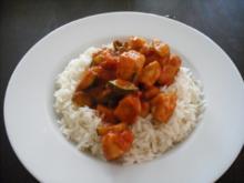 Schmorgemüse mit Hähnchenbrust und Reis - Rezept