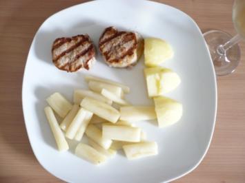 Gebratener Spargel mit  Filet - Rezept