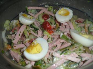 """Der alles muß weg """"Wurstsalat"""" - Rezept"""
