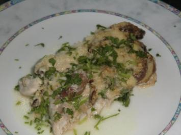 Viktoriabarschfilet unter einer Champignion-Käsekruste - Rezept