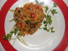 Fleisch :-Hackfleisch im Gemüsereis- - Rezept