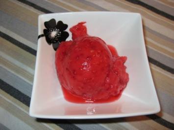 Himbeer - Soja Sorbet, Himbeereis, fettarm, kalorienarm - Rezept