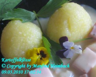 Kartoffeln - Fränkische griene Speckgniedla - Rohe Speckkartoffelklöße - Rezept