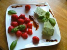 Basilikum-Eis - Rezept