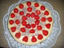 Erdbeer-Sahne-Torte mit sizilianischer Vanillecreme (crema pasticciera) - Rezept