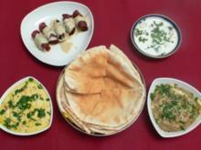 Mast-O-Khiar, Houmus, Baba Ghanouj und Ballah (Uwe F.-Petersen) - Rezept