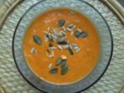 PaprikaCremeSuppe Mit Kokosmilch und Mozarella - Rezept