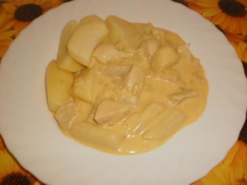 Spargel-Hähnchen-Pfanne mit Kräutern - Rezept