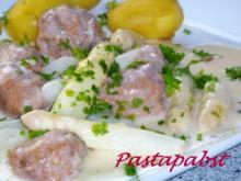 Spargelragout mit Salsiccia - Rezept