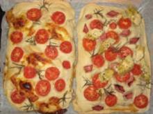 Pizza Frischkäse/Tomate - Rezept