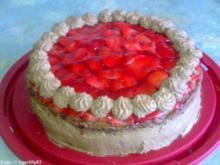 Erdbeer-Schokosahne-Torte - Rezept
