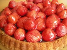 Tortenboden gelingt immer....... mit Erdbeeren oder Kirschen - Rezept