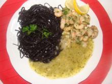 Meeresfrüchte : Garnelen mit Butterkräutersauce - Rezept