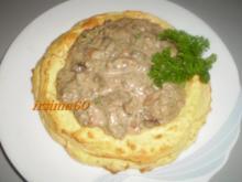 Mischpilz - Ragout im Kartoffelkranz - Rezept