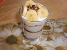 Bananen-Buttermilch-Quark mit Nüssen - Rezept