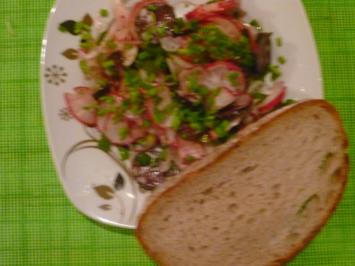 Schwäbischer Rettich- Schwarzwurstsalat - Rezept