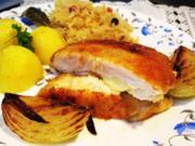 Hähnchen-Cordon bleu mit deftigem Sauerkraut - Rezept