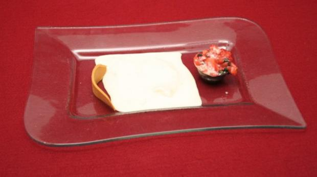 Karamell-Käse mit Balsamico-Eis - Rezept
