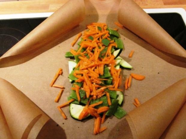 Fisch- und Gemüsepäckchen - Rezept - Bild Nr. 2