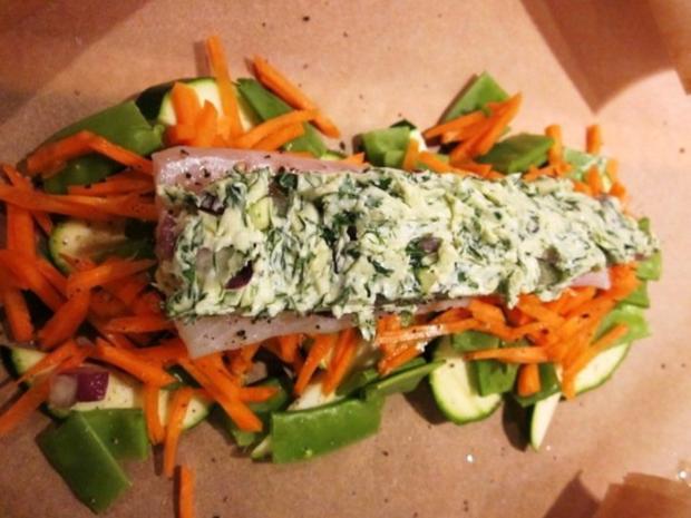 Fisch- und Gemüsepäckchen - Rezept