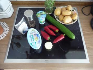 Fisch : Marinierter Hering - Light-Variante 2 mit Rosmarinkartoffeln - Rezept