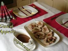 Gefüllte Putenoberkeulen mit Schoko-Chilisauce - Rezept