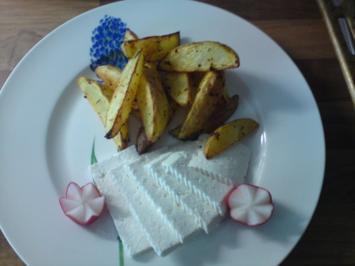Kartoffelspalten mit Ziegen- Feta - Rezept