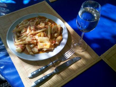 Nudeln: Rigatoni in Thunfisch-Soße - Rezept