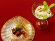 Schokobrunnen mit frischen Früchten an Vanilleeis (Hera Lind) - Rezept