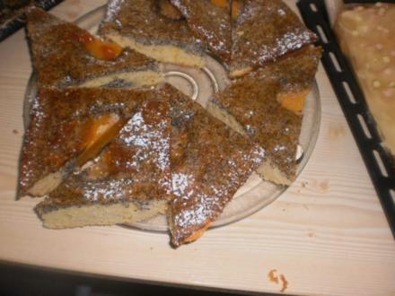 Pfirsch-Mohn-Kuchen - Rezept